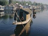 Houseboats on the Lake at Srinagar, Kashmir, Jammu and Kashmir State, India Photographic Print by Christina Gascoigne