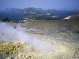 Steam Issuing from Sulphurous Fumarole at Gran Craters Photographic Print by Robert Francis