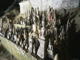 Statues of the Buddha, Pak Ou Caves, Laos, Indochina, Southeast Asia Photographic Print by R Mcleod