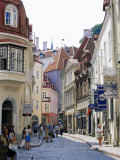 Pikk Street, Old Town, Tallinn, Estonia, Baltic States Photographic Print by Yadid Levy