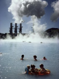 Blue Lagoon, Svarsengi Geothermal Plant, Iceland, Polar Regions Photographic Print by Kim Hart