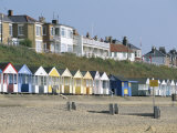 Beach Huts on the Seafront of the Resort Town of Southwold, Suffolk, England, United Kingdom Photographic Print by Robert Francis