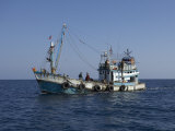 Thai Fishing Boat, Andaman Sea off Phuket, Thailand, Southeast Asia Photographic Print by Joern Simensen
