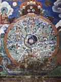 Wheel of Life Wall Art, Hemis Gompa (Monastery), Hemis, Ladakh, Indian Himalaya, India Photographic Print by Jochen Schlenker