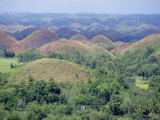 Chocolate Hills of Bohol, Famous Geological Curiosity, of Which There are Over 1000, Philippines Photographic Print by Robert Francis