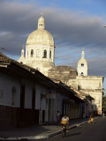 Avenida Calzada and the Neo-Classical Cathedral, Granada, Nicaragua, Central America Photographic Print by Robert Francis