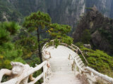 Footpath, Xihai (West Sea) Valley, Mount Huangshan (Yellow Mountain), Anhui Province Photographic Print by Jochen Schlenker