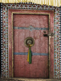 Door, Hemis Gompa (Monastery), Hemis, Ladakh, Indian Himalaya, India Fotografisk tryk af Jochen Schlenker