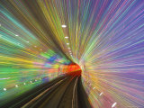West Bund Sightseeing Tunnel, Huangpu District, Shanghai, China Photographic Print by Jochen Schlenker