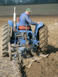 Farmer Ploughing Near Sonning Common, Oxfordshire, England, United Kingdom Photographic Print by Robert Francis