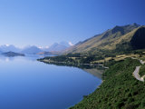 Looking Nnw Towards the Northern Tip of Lake Wakatipu at Glenorchy and Mt. Earnslaw Beyond Photographic Print by Robert Francis