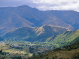 View West from the Crown Range Towards Arrowtown, West Otago, New Zealand Photographic Print by Robert Francis