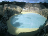 One of Three Crater Lakes at the Summit of Kelimutu Volcano Near Moni Photographic Print by Robert Francis