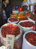Chilli Peppers and Spices on Sale in Wuhan, Hubei Province, China Photographic Print by Andrew Mcconnell