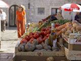 Market in Dubrovnik, Dalmatia, Croatia Photographic Print by Joern Simensen
