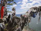 Sacred Shamanic Tree on Lake Baikal, Siberia, Russia Photographic Print by Andrew Mcconnell