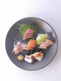 Plate of Raw Fish, Japan Photographic Print by Aaron McCoy
