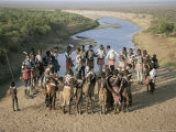 Fertility Dance, Karo Tribe, Omo River, Ethiopia, Africa Photographic Print by Dominic Harcourt-webster