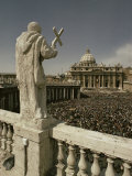 St. Peter's Square, Easter 1975, Rome, Lazio, Italy Photographic Print by Christina Gascoigne