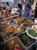 Food Stall at Filipino Market in Kota Kinabalu, Sabah, Malaysia, Island of Borneo Photographic Print by Robert Francis