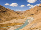 Zanskar River, Ladakh, Indian Himalayas, India Photographic Print by Jochen Schlenker