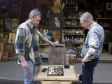 Men Play Checkers in Izmailovsky Market, Moscow, Russia Photographic Print by Andrew Mcconnell