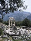 The Tholos, Delphi, Unesco World Heritage Site, Greece Fotografisk tryk af Christina Gascoigne