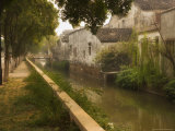 Canal and Houses, Souzhou (Suzhou), China Photographic Print by Jochen Schlenker