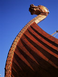 Close-Up of Viking Ship Used as a Charter Boat, Aker Brygge, Oslo, Norway, Scandinavia Photographic Print by Kim Hart