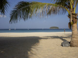 Palm Tree in Front, Kata Beach, Phuket, Thailand, Southeast Asia Photographic Print by Joern Simensen