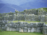 Inca Masonry, Fortress of Sacsayhuaman, Cusco, Peru, South America Photographic Print by Robert Francis