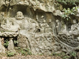 Stone Buddha Rock Carvings, Hangzhou, Zhejiang Province, China Photographic Print by Jochen Schlenker