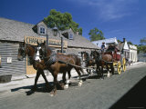 Horse Drawn Carriage at Sovereign Hill, West of Melbourne, Australia Photographic Print by Robert Francis