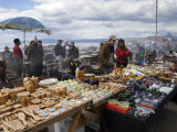 Craft Market at Lake Baikal, Listvyanka, Siberia, Russia Photographic Print by Andrew Mcconnell