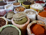 Spices and Dried Foods on Sale in Wuhan, Hubei Province, China Photographic Print by Andrew Mcconnell