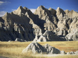 Part of the North Unit of Badlands National Park, South Dakota, USA Photographic Print by Robert Francis
