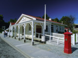 Post Office and Red Post Box in Arrowtown, North East of Queenstown, South Island Photographic Print by Robert Francis