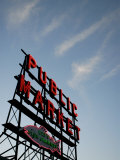 Seattle&#39;s Pike Place Market, a Place to Buy Fresh Meat, Fish, Seattle Photographic Print by Aaron McCoy