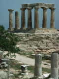 Temple of Apollo, Corinth, Greece Photographic Print by Christina Gascoigne