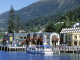 The Waterfront, Queenstown, Lake Wakatipu, Otago, South Island, New Zealand Photographic Print by Robert Francis