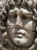 Close-Up of Carved Head, Didyma, Anatolia, Turkey, Eurasia Photographic Print by Christina Gascoigne