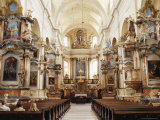 Interior, Dominican Church of the Holy Spirit, Dominikonu Street, Vilnius, Lithuania Photographic Print by Yadid Levy