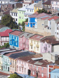 Traditional Colourful Houses, Valparaiso, Unesco World Heritage Site, Chile, South America Lámina fotográfica por Marco Simoni
