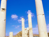 Columns Surrounding Ancient Statues of Cleopatra and Diocrides, Archaeological Site - Delos, Greece Photographic Print by Marco Simoni