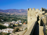 Muslim (Moorish) Castle and View of the Valley, Salobrena, Andalucia (Andalusia), Spain Photographic Print by Marco Simoni