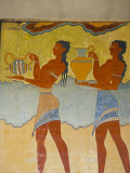 Mural Paintings, Corridor of the Procession, Minoan, Knossos, Island of Crete, Greece Photographic Print by Marco Simoni