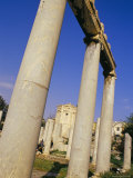 Ionic Columns of East Propylon and Tower of Winds in Background, Roman Agora, Athens, Greece Photographic Print by Marco Simoni