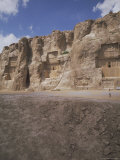 Tombs of Artaxerxes I (Left), Xerxes (Centre), and Darius the Great (Right), Naqsh-I-Rustam, Iran Photographic Print by Robert Harding