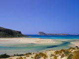 Sandy Beach of Tigani and Agria Islet and Coast, Gramvousa Peninsula, Western Crete, Greece Photographic Print by Marco Simoni
