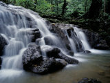 Cascade Situated Inside Sa Nang Manora Forest Park, Phang-Nga Province, Southern Thailand Photographic Print by Marco Simoni